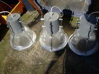 3 large crombe lights
