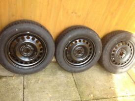 Three tyres Dunlop