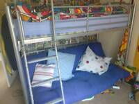 Bunk bed with double sofa bed underneath