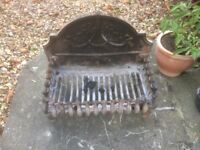 Cast Iron Fire Grate & Back
