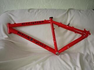 FOR SALE IS A AS NEW FETISH CYCLES DISCIPLINE MOUNTAIN BIKE FRAME