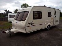 CARAVAN BAILEY PAGEANT CHAMPAGNE 4 BERTH WITH FULL SIZE AWNING AND MOTOR MOWER