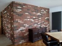 Brick tiles (slips) Old Rustic Antique, Hand molding red/black/white/yellow flamed, ref 612 NF