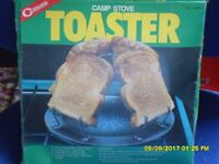 Camp stove toaster,