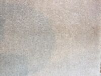 carpet off cuts saxony pile carpet felt back lime white(beige) £230 worth (£15psqm)