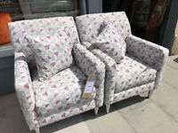Modern Armchairs , £250 each , Matching pair, will sell separately. Size W 28in D 30in H 36in