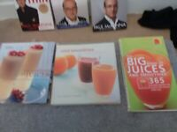 Juicing, Smoothies making books,over 300 receipes,smoke free home.
