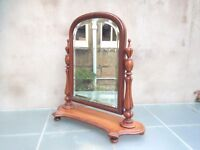 Beautiful antique mahogany dressing table mirror