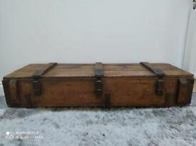 Vintage Wooden Trunk Chest Coffee Table | *free delivery
