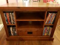 Solid wood corner TV unit