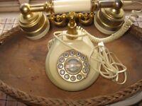 vintage style push button telephone