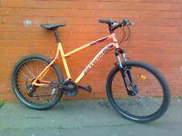 BTWIN ROCKRIDER 340 Mountain ,City Bike - ORANGE - Aluminium frame ,fully working order ...