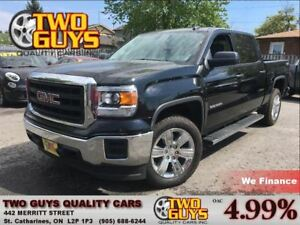 2015 GMC Sierra 1500 CREW 4X4 6PASS V6 4.3L LOW KMS!