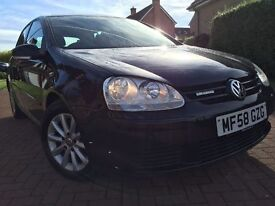 *6 MTHS WARRANTY*2008(08)VW GOLF 1.9 TDI BLUEMOTION 5DR WITH 12 MONTHS MOT&NEW CLUTCH&FLY WHEEL*