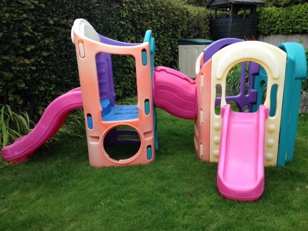 Little tikes 8 in 1 playground climbing frame slides for Little tikes outdoor playset