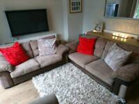 Dfs 3&2 Seater Brown Jumbo Cord Sofa Set, DELIVERY AVAILABLE