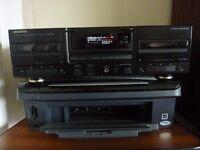 Kenwood double cassette deck, KX-W4060