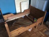 Ikea Antique Pine extendable bed