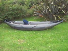 Bison Inflatable Kayak. Fishing, Rafting, Canoe.