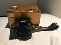 Nikon D810 - great condition, low shutter count