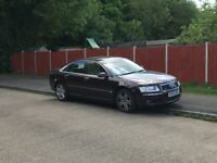 Audi A8 280 bhp 3.7 V8,FSH,heated back seats,4 zones air con