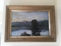 3 original oil on canvass paintings dated 1825