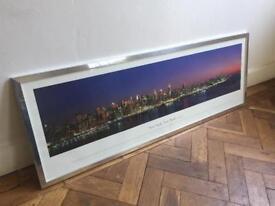 New York City Skyline Print in Frame