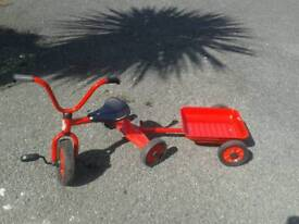 Winther tricycle and trailer