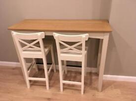 John Lewis bar table with Ikea bar stools