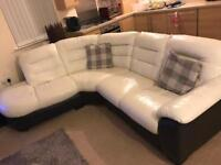 Dfs ripple corner sofa, cuddle chair and stool