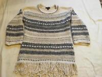 Atmosphere ladies light wool jumper size M/12 used £3