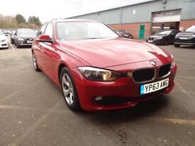 BMW 3 SERIES 320d EfficientDynamics 4dr (red) 2013