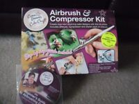 Cassie Brown Airbrush & Compressor Kit + 12 unopened food colours