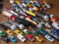 Collection of 55+ branded matchbox -cars,trucks,convoys,lorry with trailers.