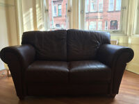 Stunning handmade Italian leather sofas (2) - immaculate condition.***reduced price***