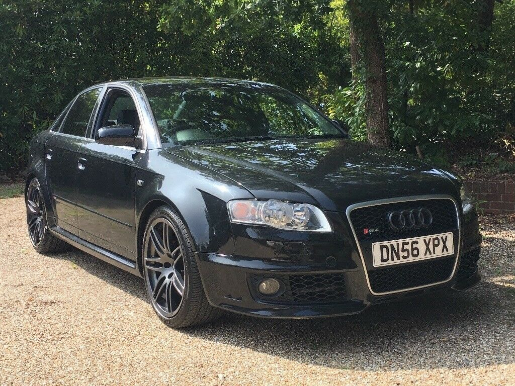 2007 56 audi a4 b7 2 0 tdi sline rs4 replica black. Black Bedroom Furniture Sets. Home Design Ideas