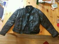 Leather jacket motorcycle worn size 42