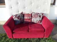 2 Seater Wine Red Sofa