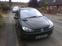 Good condition black peugeot, clean and tidy,good body work, runs well, mot til Dec 2016 , no tax.