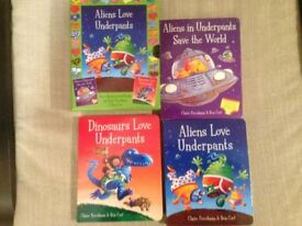 Aliens love Underpants & Harry and his Bucketful of Donosaurs Book Sets Bundle