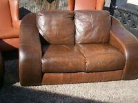 nice pair leather sofas 3+2 seat