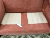 2 seater and 3 seater sofa terracotta