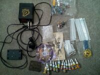 tattoo kit with 2 tattoo guns, excellent condition