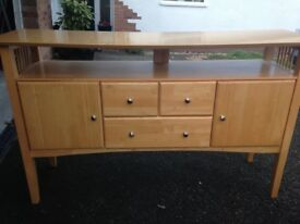Sideboard in a beautiful light wood. No marks. £55 collection only. Wirral.