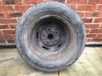 "16"" Steel Wheel Rim & Tyre, Ford Transit MK6, 5½"" Jx16x56"