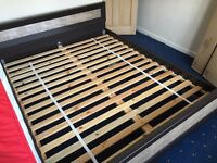 Double Bed King Sized Frame. Superb condition. Ready for collection