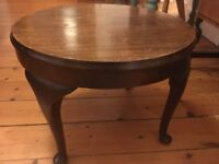 Lovely side table with cabriole legs