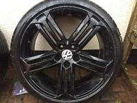 "VW 19"" alloys and tyres"
