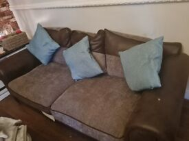 2 good quality sofas comes with footstool