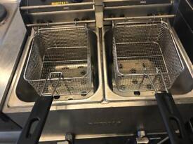 Commercial double basket double tank fryer catering restaurant hotels pubs equipment